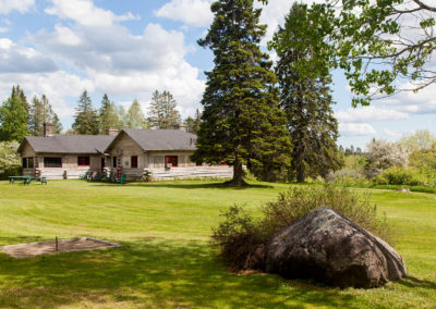 Ample grounds of the lodge.
